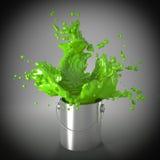 Explosión verde Foto de archivo