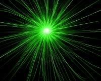 Explosión verde Imágenes de archivo libres de regalías