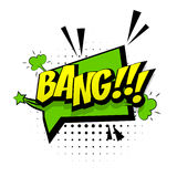 Explosión verde cómica de la palabra del arte pop de los efectos sonoros libre illustration