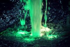 Explosión verde del agua Foto de archivo