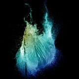 Explosión verde del chapoteo del globo de agua Imagenes de archivo