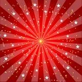 Explosión y fondo de las estrellas (VECTOR) Imágenes de archivo libres de regalías