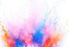 Explosi?n coloreada del polvo en el fondo blanco imágenes de archivo libres de regalías