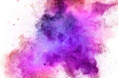Explosi?n coloreada del polvo en el fondo blanco foto de archivo libre de regalías