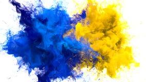 Explosi?n de color - mate alfa del humo de las part?culas fl?idas coloridas m?ltiples de las explosiones stock de ilustración