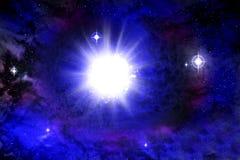 Explosi?n de la supernova a trav?s de la nebulosa c?smica imágenes de archivo libres de regalías