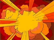 Explosie 1 royalty-vrije illustratie