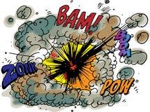 Explosie stock illustratie