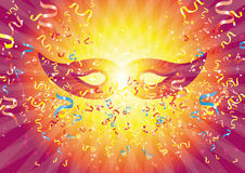 Explosie 3 van Carnaval masker royalty-vrije illustratie
