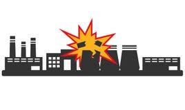 Explosie bij de installatie Stock Foto's
