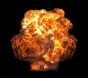Explosie in dark stock afbeelding