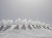 Explosie in de bergen Stock Afbeeldingen