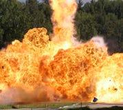 Explosie een vlam royalty-vrije stock afbeeldingen