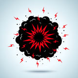 Explosie en rook Stock Afbeelding