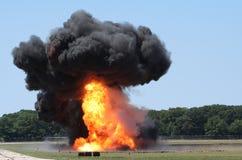 Explosie op Gebied Stock Foto