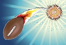 Explosie van Amerikaanse Voetbal Stock Afbeeldingen