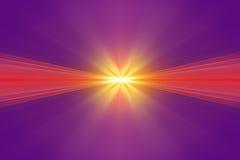 Explosie van geel licht Royalty-vrije Stock Foto
