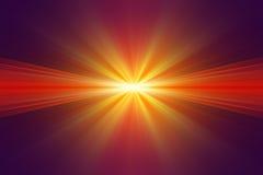 Explosie van geel licht Stock Afbeelding