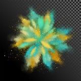 Explosie van gekleurd poeder stock illustratie