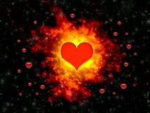 Explosie van gevoel in de dag van Valentijnskaarten Royalty-vrije Stock Afbeelding