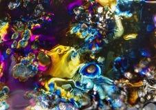 Explosie van kleuren op ijs royalty-vrije stock fotografie