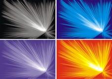 Explosieachtergrond Stock Afbeeldingen