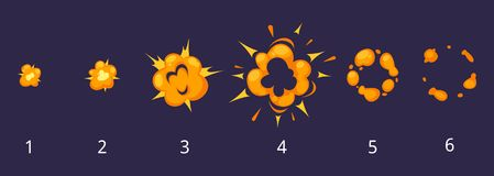 Explosiekaders voor animatie stock illustratie