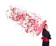 Explosieve geisha Royalty-vrije Stock Afbeeldingen