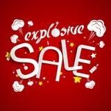 Explosieve Verkoop Royalty-vrije Stock Afbeelding