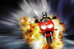 Explosieve vlucht royalty-vrije illustratie