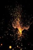 Explosieve vonken stock afbeeldingen