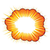 Explosión anaranjada Foto de archivo libre de regalías