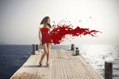 Explosión creativa de la moda Fotos de archivo libres de regalías