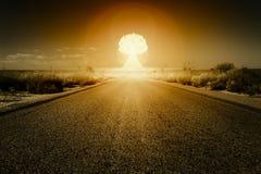 Explosión de la bomba nuclear Imagen de archivo libre de regalías