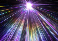 Explosión de la estrella con las partículas y los rayos Imagen de archivo