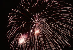 Explosión de los fuegos artificiales Fotografía de archivo