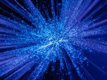 Explosión del azul de la luz Foto de archivo libre de regalías