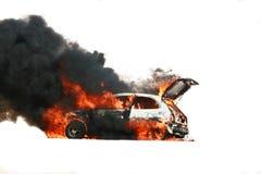 Explosión del coche Fotos de archivo