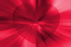 Explosión del corazón Fotografía de archivo libre de regalías