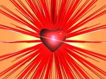 Explosión del corazón Imágenes de archivo libres de regalías