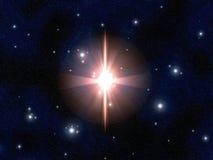 Explosión estelar Imagen de archivo libre de regalías