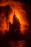 Explosing lawa w Hawaje Zdjęcie Royalty Free