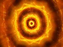Explosion électromagnétique palpitante rougeoyante ardemment dans l'espace illustration libre de droits