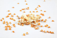 Explosion. Popcorn exploding (symbolic for any sort of explosion or burst Royalty Free Stock Photo