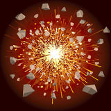 Explosion. Great explosion illustration- (vector will be additional stock illustration