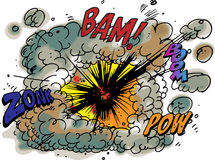 Explosion. Vector illustratuion of Bam and Boom explosion Royalty Free Stock Image
