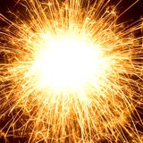 Explosion. Picture of firework with copyspace in the middle Stock Images