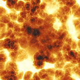 Explosion. Seamless background - explosion with a lot of fire clouds Stock Photography