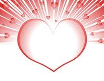 Explosion 2 de feux d'artifice de coeurs de Valentine illustration stock