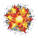 Explosion. Colorful explosion, background. Vector-Illustration Stock Photography